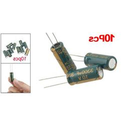 SODIAL 10Pcs 10V 3300UF Motherboard Electrolytic Capacitor R