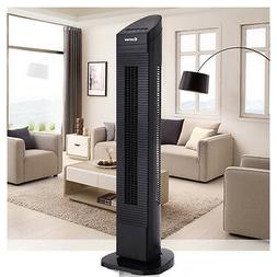 Bladeless 3 Speed Tower Fan Portable Oscillating Cooling Air