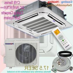 36000 BTU 3 Ton PIONEER Inverter Ceiling Cassette Ductless S