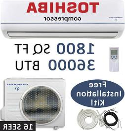 36000 BTU Ductless Mini Split Air Conditioner Heat Pump with