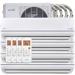 36000BTU Quad Zone Ductless Mini Split Air Conditioner 4x900