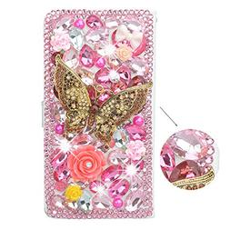 Spritech 3D Handmade Bling Pink Diamond Design Case Luxury P