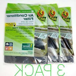 "3x Duck Air Conditioner Foam Filter 24""x15""x1/4"" Cut to"