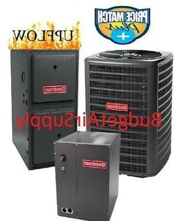 3 Ton Goodman 14 seer 80% 80K btu 2stage UPFLOW Gas Furnace+