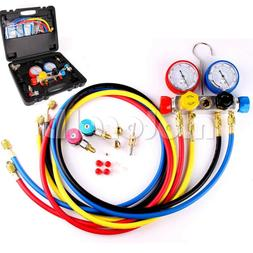 4 Way AC Diagnostic Manifold Gauge Set for Air Conditioner R