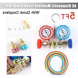 4 Way AC Manifold Gauge Set Air Conditioner R410a R22 R134a