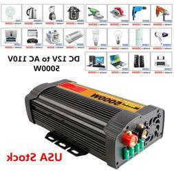 4000/6000/10000/12000W Peak Car Power Inverter DC12V to 110V