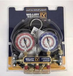 "Yellow Jacket 42044 Heat Pump Manifold, 60"" Hoses R-22/407c/"