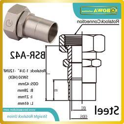 42mm ODS straight SW50 hex rotalock valve installed in heat