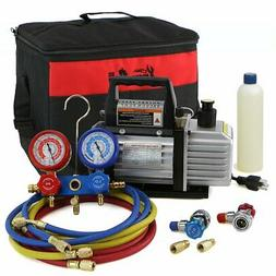 XtremepowerUS 4CFM Air Vacuum Pump HVAC A/C Refrigeration Ki