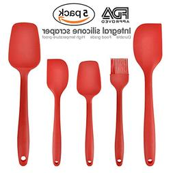 5 Kitchen Utensils Cooking Tools Eco Tableware Silicone Spoo