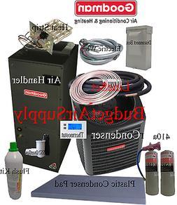 4 ton 16 SEER Goodman Heat Pump GSZ16048+ASPT49D+FLUSH+410a+