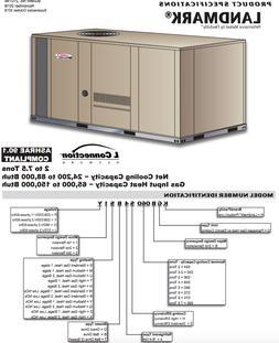 LENNOX 5 TON PACKAGE UNIT 208/230V 1PH GAS/ELEC AIR CONDITIO