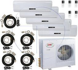5 Ton Quint Zone Ductless Split Air Conditioner 60000 BTU: 1