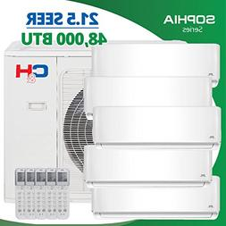 COOPER AND HUNTER 5 Zone 48,000 BTU 4 Ton 21.5 SEER Ductless