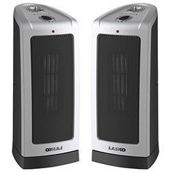 Lasko 2-Pack 5307 Oscillating 16 inch Ceramic Tower Heater w