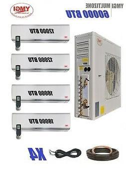 YMGI 57000 BTU Five Zone DUCTLESS Mini SPLIT AIR CONDITIONER