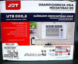 TCL 6,000 BTU WHITE WINDOW AIR CONDITIONER WITH REMOTE