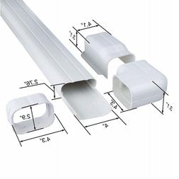 6.5 Ft L Decorative PVC AC Line Set Cover Tubing Kit for Cen