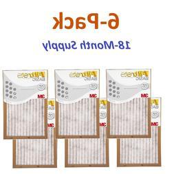 6-Pk  Filtrete-Basic 3M Air-Filter Replacement Pad Furnace D