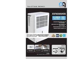 Perfect Aire 70 Pint Electric Dehumidifier,Coverage 4,500 Sq