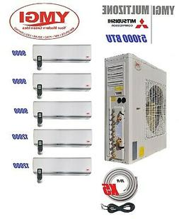 72000btu quad zone ductless mini