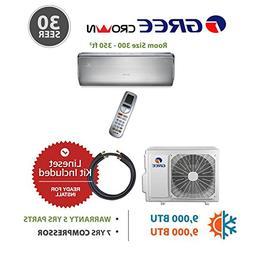Gree CROWN 9,000 BTU Ductless Mini Split Air Conditioner w/