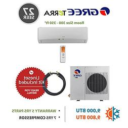 Gree 9,000 BTU 27 SEER Wall Mounted Ductless Mini Split Air