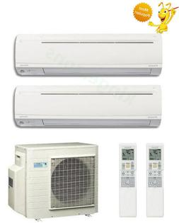 18000 + 18000 Btu Daikin Dual Zone Ductless Wall Mount Heat