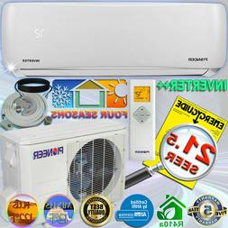 PIONEER 9000 BTU 22.5 SEER DC Inverter++ Mini Split Heat Pum