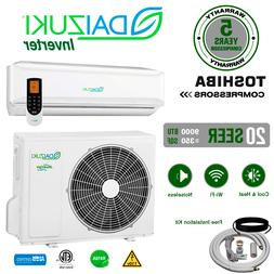 9000 BTU Air Conditioner Mini Split 20 SEER INVERTER AC Duct