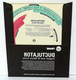 Trane #94.24  Ductulator Duct Size Calculator English & SI M