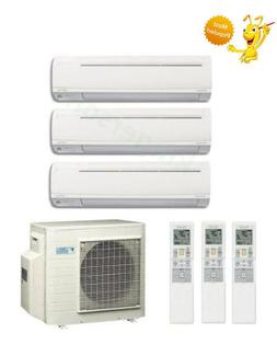 9k + 9k + 9k Btu Daikin Tri Zone Ductless Wall Mount Heat Pu
