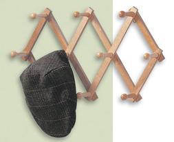 Expanding PEG Rack 10 Hooks Hardwood Multi-purpose Vertical