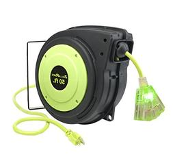 Flexzilla ZillaReel 50 ft. Retractable Extension Cord Reel -