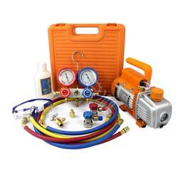 HVAC A/C Refrigerant R134a R22 R410a R407C Manifold Gauge &