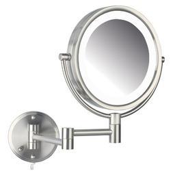 Jerdon HL88NL 8.5-Inch LED Lighted Wall Mount Makeup Mirror