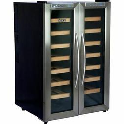 Newair - 32-bottle Wine Cooler - Black/stainless Steel