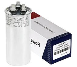 PowerWell 30 5 MFD uf 370 or 440 Volt Dual Run Round Capacit