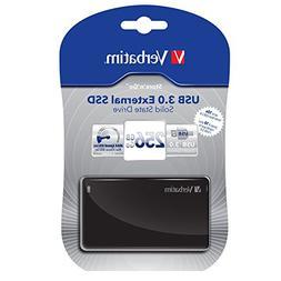 Verbatim 256GB Store'n' Go External SSD, USB 3.0 - Black - T