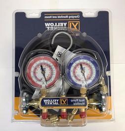 "Yellow Jacket 42044 Heat Pump Manifold, 60"" Hoses, R-22 / 40"