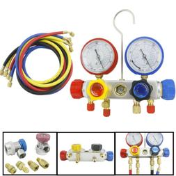 4 Way AC Manifold Gauge Set R410a R22 R134a Quick Coupler 60