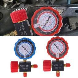 Air Conditioner 3-Way Single Manifold Gauge Valve R134A R410