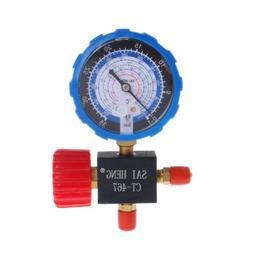 Air Conditioner 3-Way Single Manifold Gauge Valve R134A R404