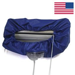Air Conditioner Clean Waterproof Protector Cleaning Cover Du