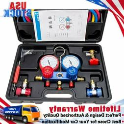 Air Conditioner Refrigeration Kit A/C Manifold Gauge Set R12