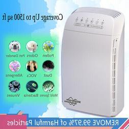Air Purifier True HEPA Filter System Odor Allergies Cleaner