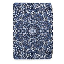Apple iPad Air 2 Case, CasesByLorraine Blue Mandala Floral P