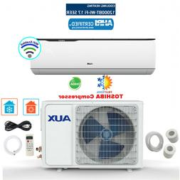 12000 BTU Mini Split Air conditioning, Heat Pump w/ WiFi 12f