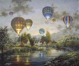 Balloon Glow by Nicky Boehme Art Print, 19 x 16 inches